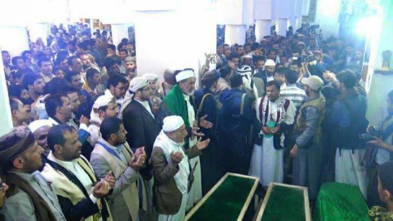 تشييع مهيب للشهيد إبراهيم الحوثي