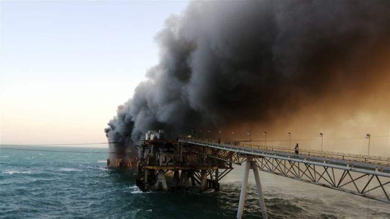 العراق: حريق في ميناء الخفكة النفطي