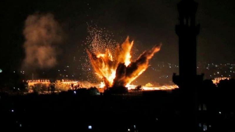 طائرات الاحتلال تقصف أرضًا زراعية شرق رفح