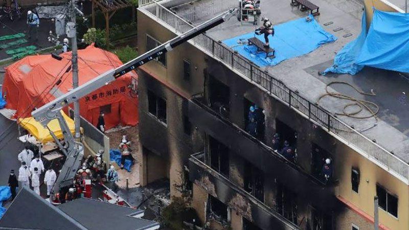33 قتيلًا في حريق متعمد في استوديو للرسوم المتحركة في اليابان