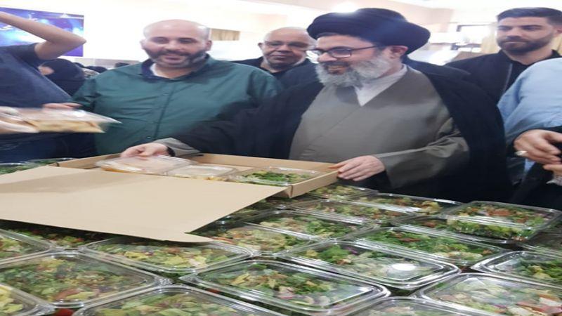 السيد صفي الدين يتفقّد المطبخ الرمضاني لمائدة الإمام زين العابدين (ع)