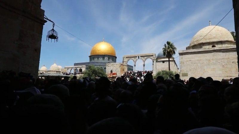 بالفيديو: هكذا كانت صلاة الجمعة الاولى من شهر رمضان في القدس