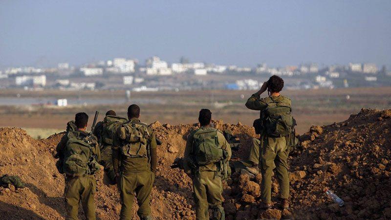 قوات صهيونية معززة على حدود غزة والعدو يبني جدارًا خوفًا من صواريخ المقاومة