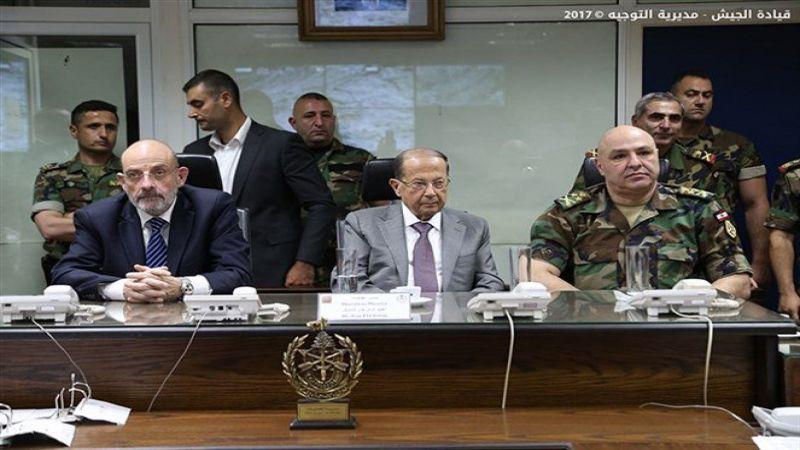 بالصور - الرئيس عون زار اليرزة وتابع عملية الجيش النوعية في جرود عرسال ورأس بعلبك