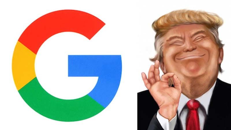 الأحمق على غوغل هو ترامب..