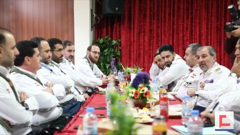 القيادة العامة لكشافة المهدي (عج) تزور قيادة كشافة الرسالة (فيديو)