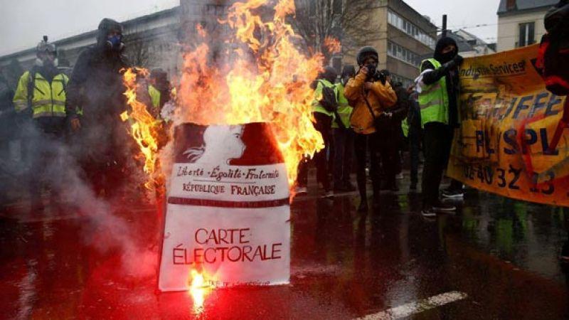 سبت خامس للسترات الصفر.. مواجهات واعتقالات في باريس