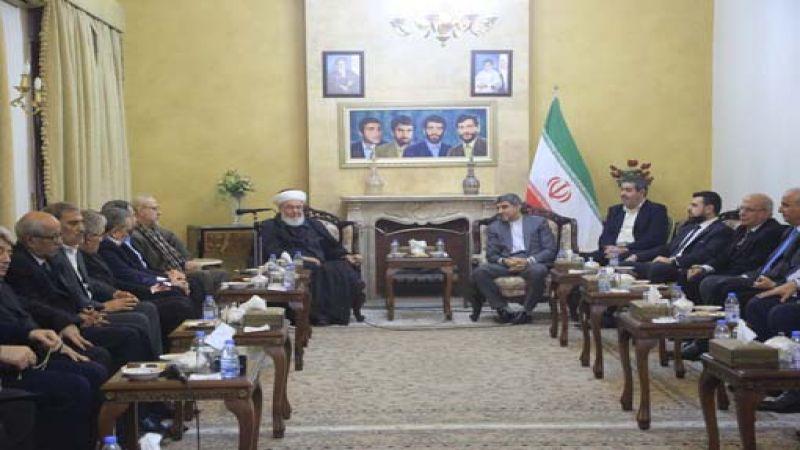 السفير الإيراني استقبل وفدا من لقاء الاحزاب والقوى اللبنانية