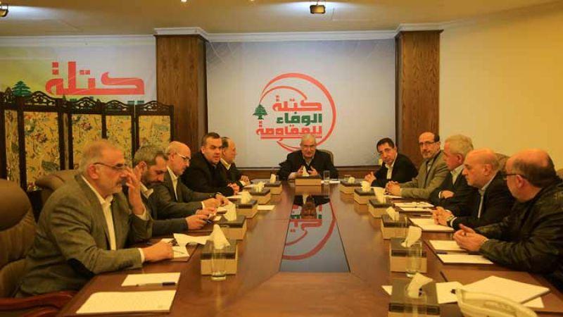 كتلة الوفاء تؤكد اولوية مكافحة الفساد وتدين الانتهاكات الصهيونية المتواصلة جواً وبراً وبحراً