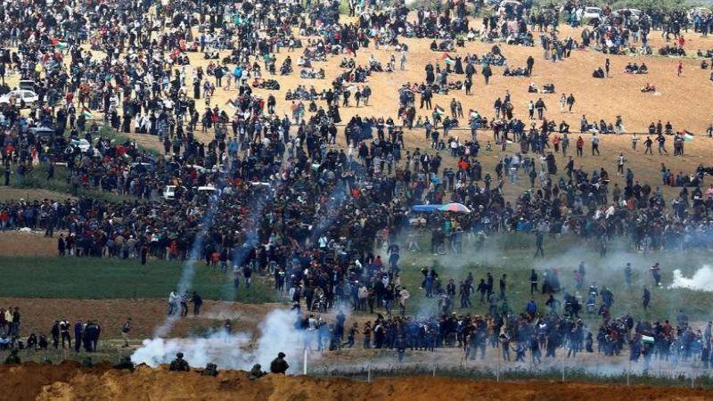 استشهاد ثلاثة فلسطينيين واصابة العشرات جراء قمع الاحتلال مسيرات العودة شرق قطاع غزة