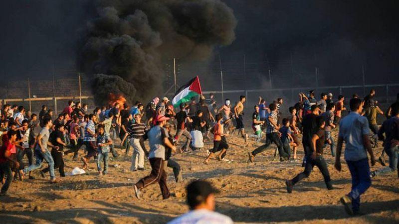 إصابات بالرصاص والغاز خلال قمع الاحتلال لمسيرات العودة