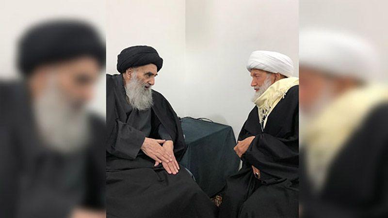 السيد السيستاني يلتقي بالشيخ عيسى قاسم في النجف الأشرف