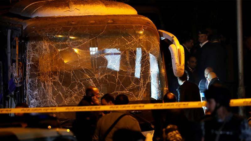 ارتفاع عدد قتلى الحافلة السياحية بمنطقة الهرم في مصر