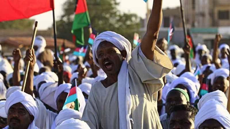 استمرار المظاهرات في السودان