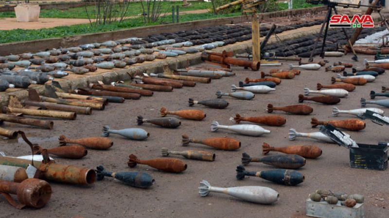 احباط تسلل لإرهابيين بريف حماه الشمالي والعثور على مخلفات أسلحة وذخائر بريف حمص