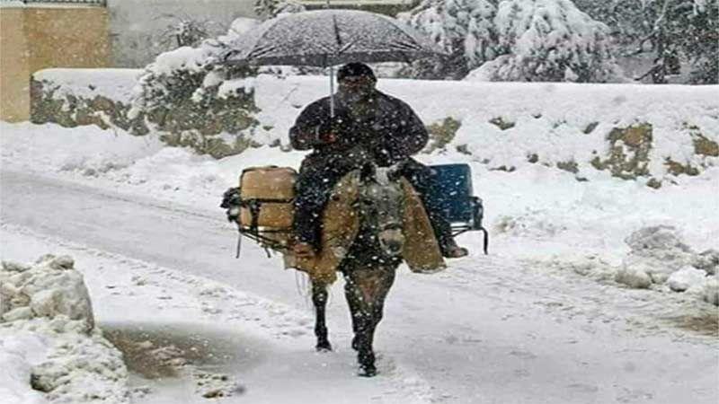 """العاصفة """"نورما"""" تشل لبنان من شماله الى جنوبه"""