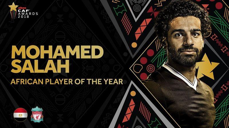 صلاح يتوج بجائزة أفضل لاعب إفريقي 2018