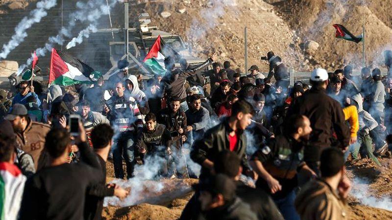 استشهاد فلسطينية وإصابة 25 اخرين جراء قمع الاحتلال مسيرات العودة شرق قطاع غزة