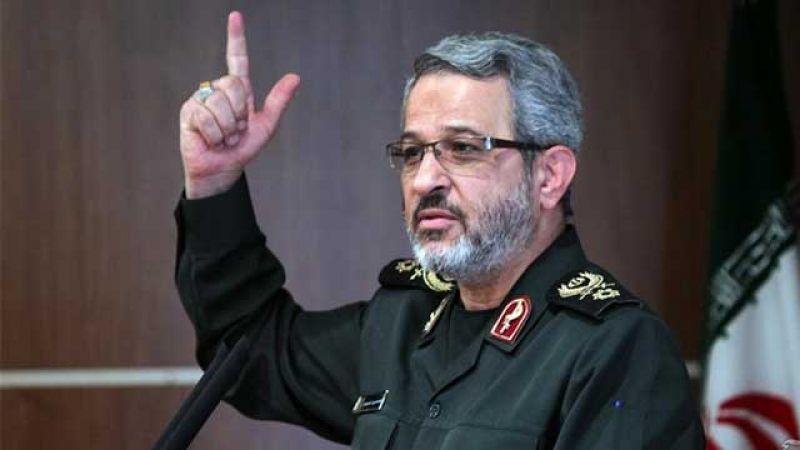 """قائد منظمة قوات التعبئة في ايران لـ""""العهد"""": عندما يفشل الأميركيون يلجأون للعروض التهريجية"""