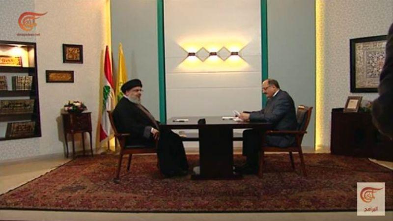 النص الكامل لمقابلة الامين العام لحزب الله سماحة السيّد حسن نصرالله على قناة الميادين