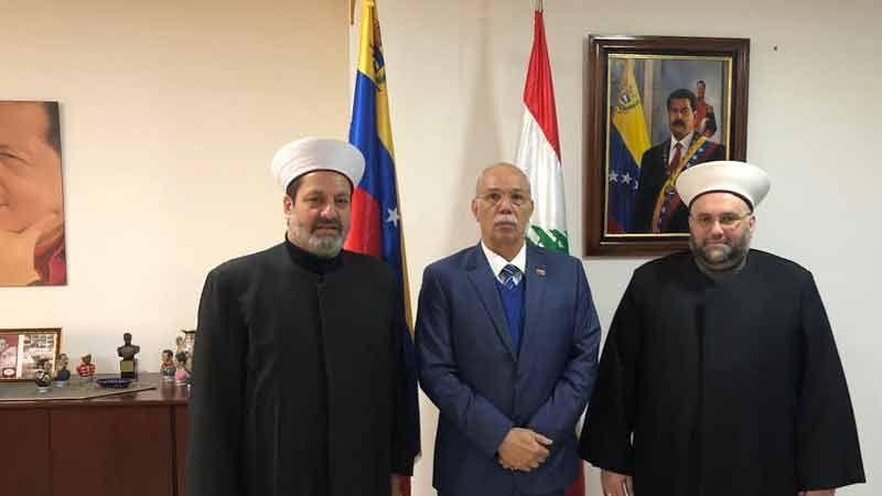 وفود لبنانية تتضامن مع فنزويلا وتزور مقر السفارة الفنزويلية في لبنان