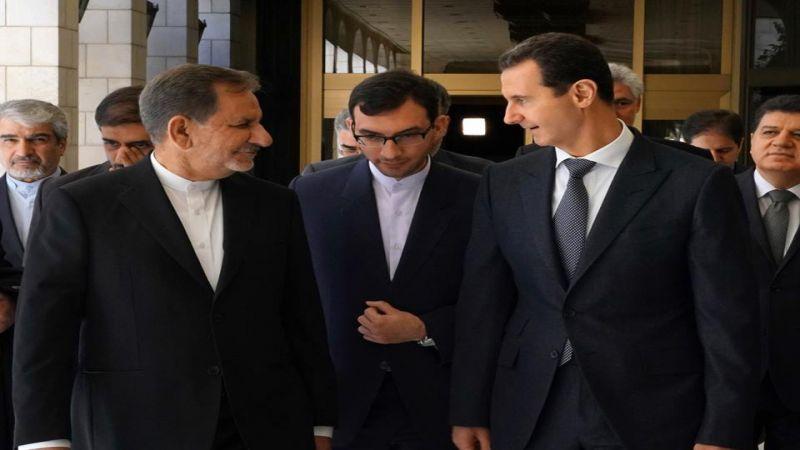 الأسد أمام جهانغيري: الاتفاقيات الثنائية تعزّز صمود سوريا وإيران بوجه الحرب الاقتصادية