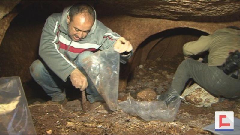 """بالفيديو: """"العهد"""" في مغارة سحمر الرومانية .. آثار إلى ما قبل 2000 سنة"""