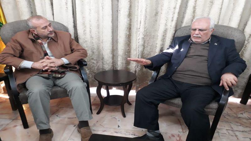 وفد من المؤتمر الشعبي لفلسطينيي الخارج يلتقي حزب الله