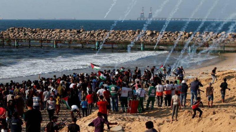 اصابة 20 فلسطينيا جراء قمع الاحتلال الحراك البحري الـ24 شمال غزة