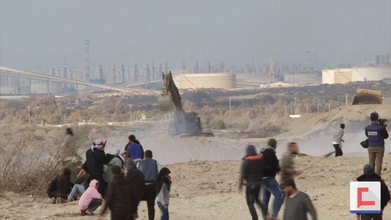 """""""اسرائيل"""" تحاصر غزة بالجدران الاسمنتية"""