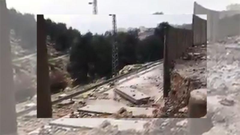 بالفيديو: انهيار أجزاء من جدار الفصل العنصري في القدس المحتلة