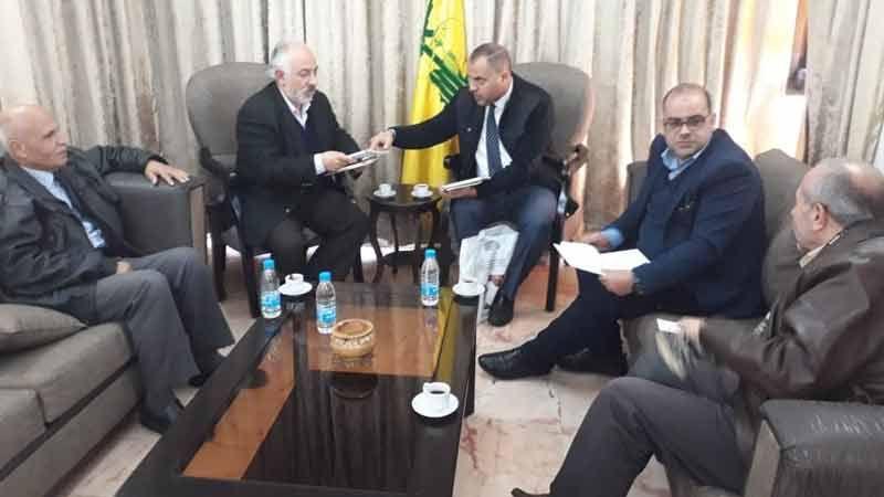 حب الله يستقبل مدير عام المؤسسة الفلسطينية لحقوق الإنسان