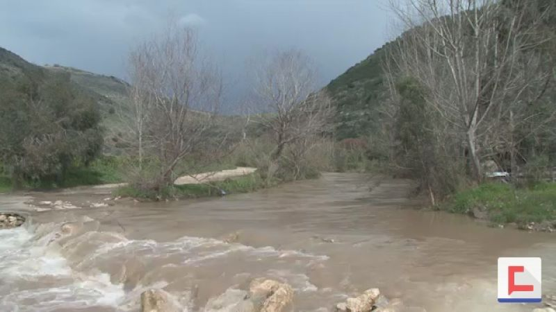 مياه نهر الليطاني في أعلى مستوياتها