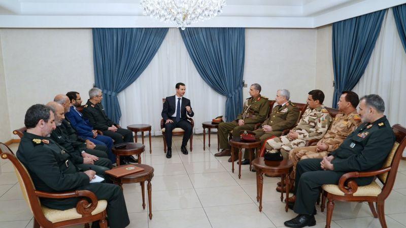 الرئيس الأسد لوفد عسكري إيراني عراقي مشترك: العلاقة التي تجمعنا متينة