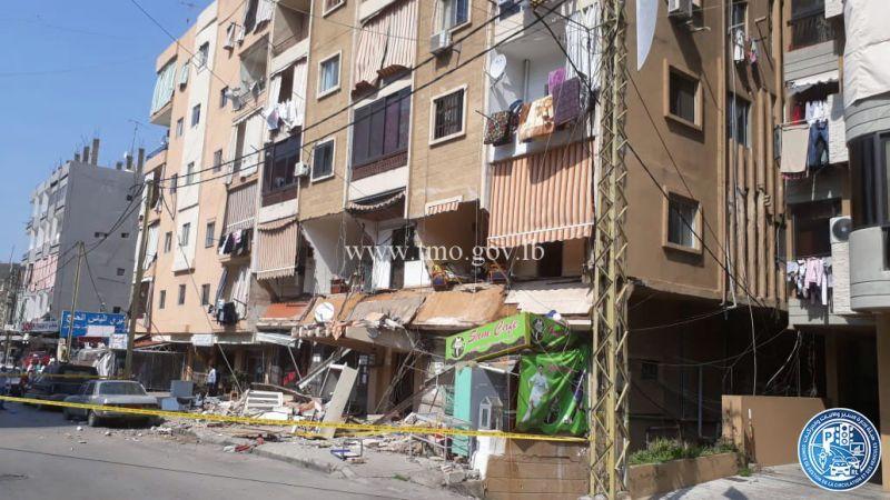 انهيار جزئي لمبنى في سن الفيل النبعة