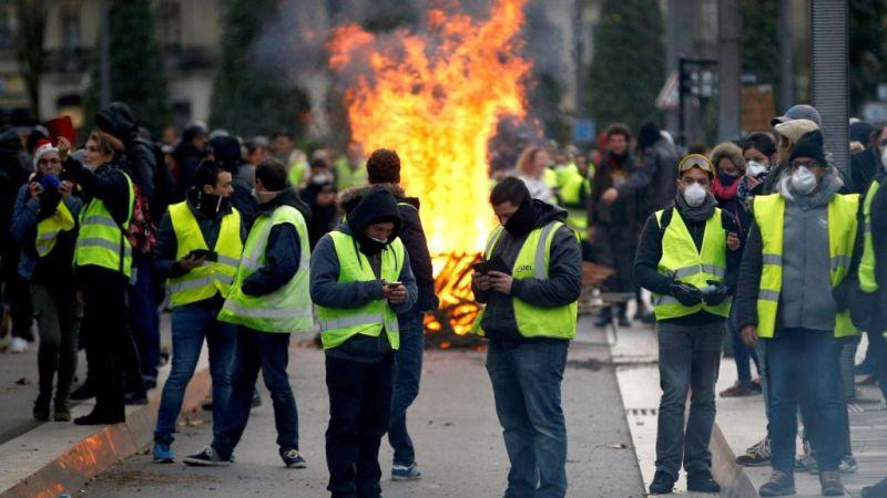 """لأول مرة..الجيش الفرنسي ينضم للشرطة لمواجهة """"السترات الصفراء"""""""