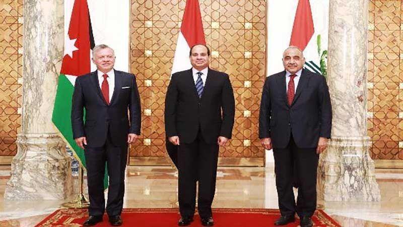 البيان الختامي للقمة الثلاثية بين مصر والعراق والأردن:  مكافحة الإرهاب وداعميه