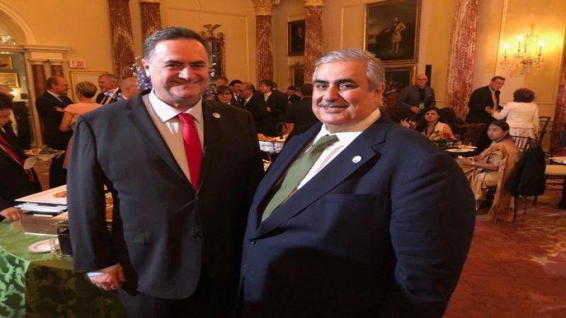 تهنئة خاصّة من وزير خارجية العدو لوزير خارجية البحرين