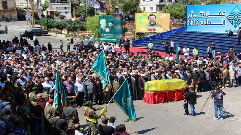 حزب الله والسرايا اللبنانية يشيعون الشهيد منيب العابد في النبطية الفوقا