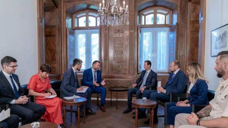 الرئيس السوري لوفد روسي: الانتصارات التي تحققت تثبت تصميم الشعب والجيش على الاستمرار بضرب الإرهابيين