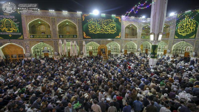 ثلاثة ملايين زائر يحيون عيد الغدير في النجف الاشرف