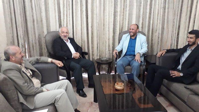 مسؤول الملف الفلسطيني في حزب الله يستقبل وفدًا من حركة حماس