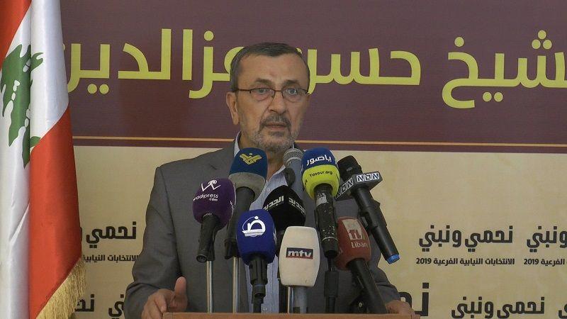 المرشح عز الدين: سنؤكد للأميركي في صناديق الاقتراع فشل ما يراهن عليه