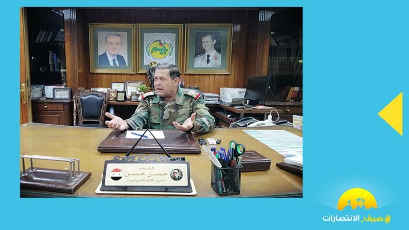 """اللواء حسن حسن لـ""""العهد"""": جبهات المواجهة واحدة بين سوريا وحزب الله"""