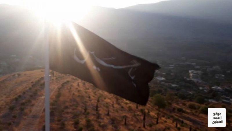 راية عملاقة بإسم الامام الحسين (ع) إيذاناً ببدء مراسم العزاء بالبقاع الغربي
