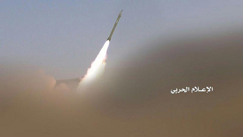 """صواريخ """"بدر1"""" الباليستية اليمنية تدك مطار وقوة الواجب السعودية في نجران"""