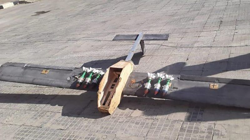 """بالصور .. إسقاط طائرات """"مسيّرة"""" انتحارية بسهل الغاب شمال حماة"""