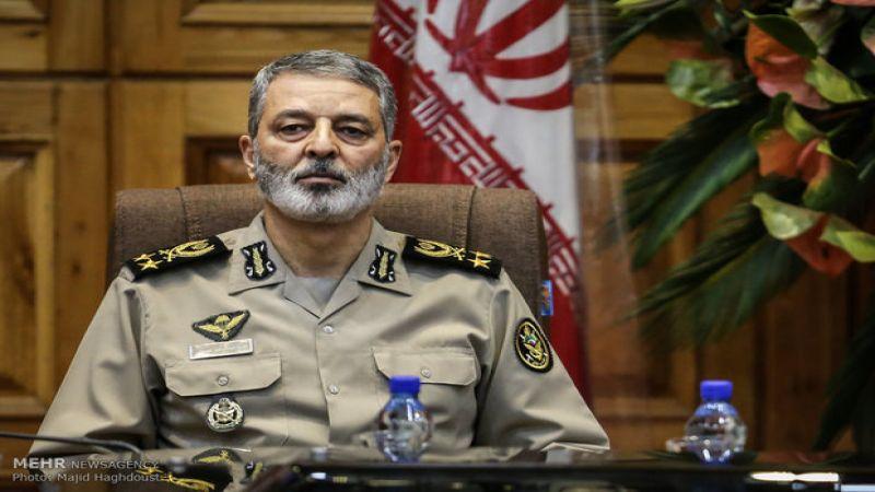 القائد العام للجيش الإيراني: جبهة المقاومة ستقضي على رموز النظام السلطوي في أمريكا