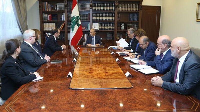 """الرئيس عون لموفد الخارجية الأمريكية: """"اسرائيل"""" تواصل اعتداءاتها على السيادة اللبنانية"""
