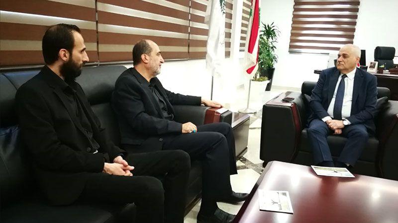 جبق يبحث قضية المرضى المنقولين من مستشفى الفنار مع برجاوي